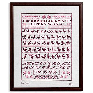 Kreuzstichbild Vögel