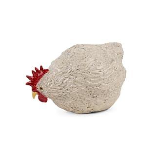 Gartenhenne aus Keramik