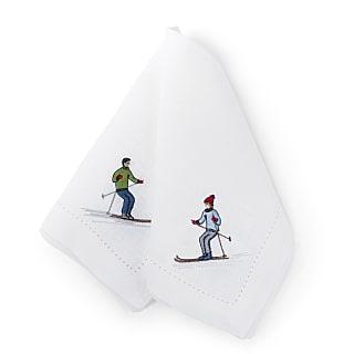 Serviette Skifahrer, 2er-Set